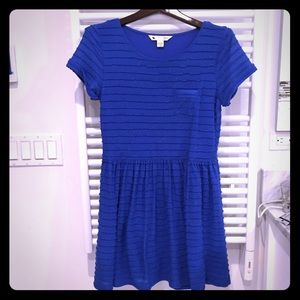 Anthropologie blue rainbow dress XS Small